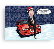 Ashes to Ashes Gene Hunt Christmas Card Canvas Print