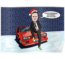 Ashes to Ashes Gene Hunt Christmas Card Poster