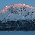 Sunset & moonrise in Valldalen by Algot Kristoffer Peterson