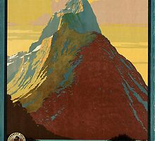 Vintage poster - New Zealand by mosfunky