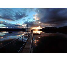 Te Anau Sunset. South Island, New Zealand. Photographic Print