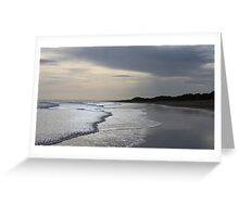 Forvie Sands at dusk Greeting Card