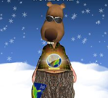 Groundhog Day Greeting Card With Groundhog Crystal Ball by Moonlake