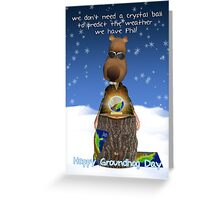 Groundhog Day Greeting Card With Groundhog Crystal Ball Greeting Card
