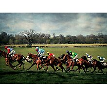 Racing By Photographic Print