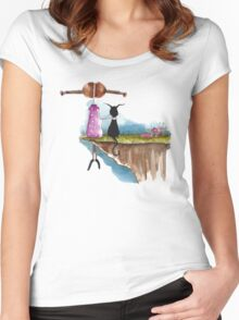 Love my cat Women's Fitted Scoop T-Shirt