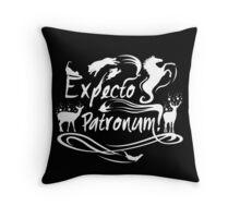 Expecto patronum deer Throw Pillow