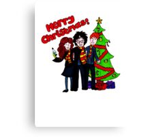 Harry Potter Christmas Design - Merry Christmas! Canvas Print
