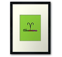 Aries Upfront Framed Print
