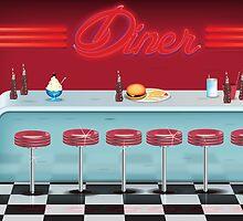 American Diner by Nick  Greenaway