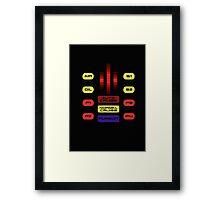 Knight Rider KITT Car Dashboard Graphic Framed Print
