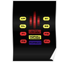 Knight Rider KITT Car Dashboard Graphic Poster