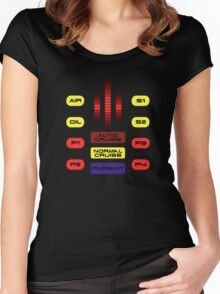 Knight Rider KITT Car Dashboard Graphic Women's Fitted Scoop T-Shirt