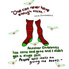 "Harry Potter Christmas Design - ""One can never have enough socks!"" by LittleMizMagic"