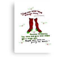 "Harry Potter Christmas Design - ""One can never have enough socks!"" Canvas Print"