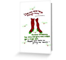 """Harry Potter Christmas Design - """"One can never have enough socks!"""" Greeting Card"""