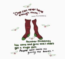 "Harry Potter Christmas Design - ""One can never have enough socks!"" T-Shirt"