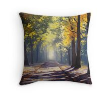 Road Shadows Throw Pillow