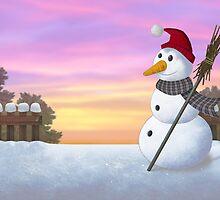 Snowman by Stijn Van Elst