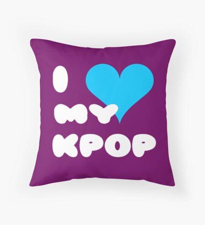 I LOVE MY KPOP - Purple Throw Pillow