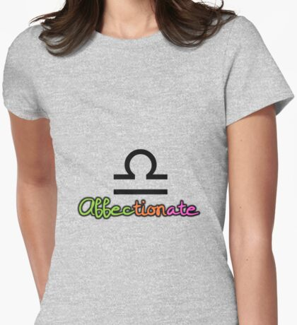 Libra Upfront Womens Fitted T-Shirt