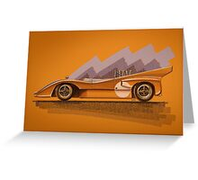 Mclaren M8D - Digital Painting Greeting Card