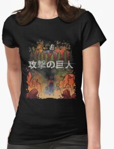 Attack on giant Womens Fitted T-Shirt