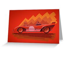 Ferrari 312P - Digital Painting Greeting Card