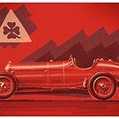 Alfa Romeo P3 - Digital Painting by David Jones