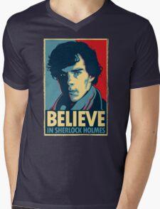 Believe in Sherlock Holmes Mens V-Neck T-Shirt