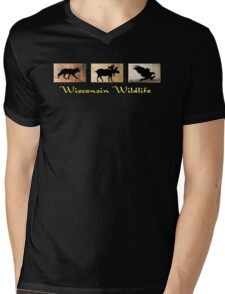 Wisconsin Wildlife Mens V-Neck T-Shirt