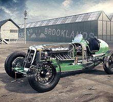 E.R.A. Cutaway Illustration - Brooklands by David Jones