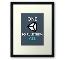 One Unity to rule them all Framed Print