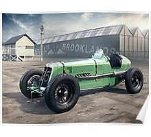 E.R.A. illustration - Brooklands Poster