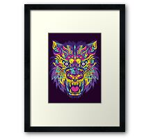 Rainbow Tiger Framed Print