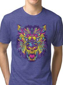 Rainbow Tiger Tri-blend T-Shirt