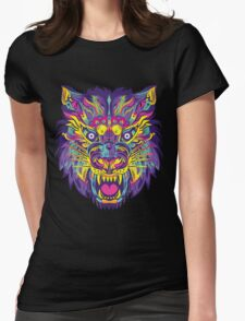 Rainbow Tiger Womens Fitted T-Shirt