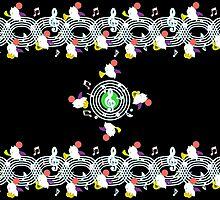 Music Moogle (Black&Green) by Rhaenys