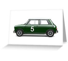Mini Cooper - Side Profile Greeting Card