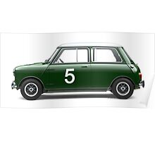 Mini Cooper - Side Profile Poster