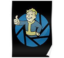 Aperture Vault Boy - Gamemix Poster