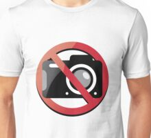 no photographs Unisex T-Shirt