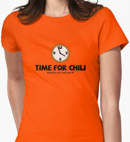 Time For Chili Womens Fitted T-Shirt