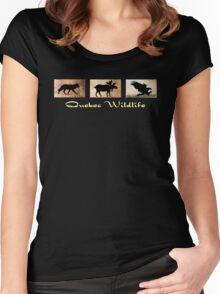 Quebec Wildlife Women's Fitted Scoop T-Shirt