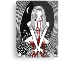 Blood Red Alice Tee Metal Print