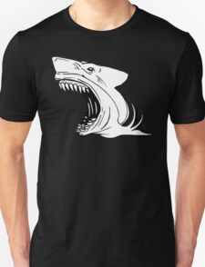 Angry Shark Art Logo Design T-Shirt