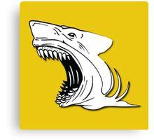 Angry Shark Art Logo Design Canvas Print
