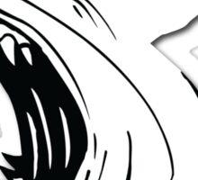 Angry Shark Art Logo Design Sticker