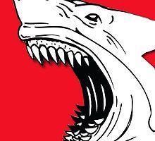 Angry Shark Art Logo Design by sharkruleart