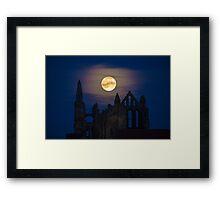 Whitby Abbey Moonrise Gothic Supermoon Framed Print